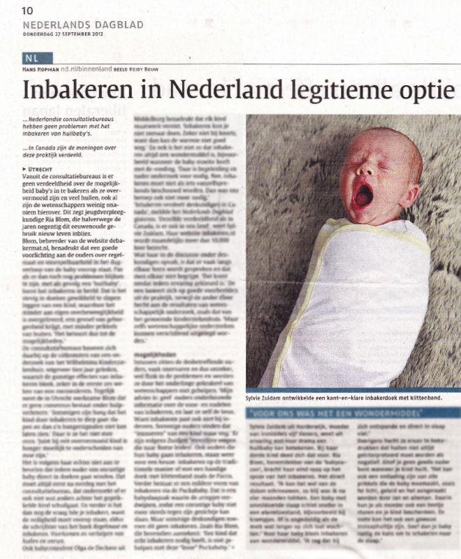 Inbakeren in Nederland legitieme optie, door Hans Hopman